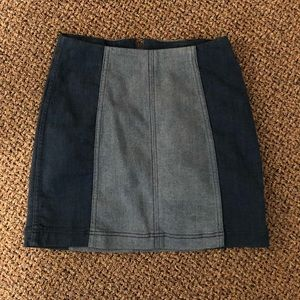 FREE PEOPLE Denim Skirt